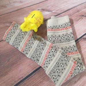 Free People Sweater Knit Leggings fair isle design